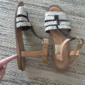 Dolce Vita pony hair sandals. Size 8
